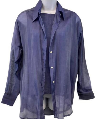Jill McGowan Lavender 2-Pc. Cotton Silk Blend Top