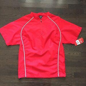 Rawlings-Baseball-Warmup-Windbreaker-Jacket-Shell-Red-Mens-Size-S-NWT
