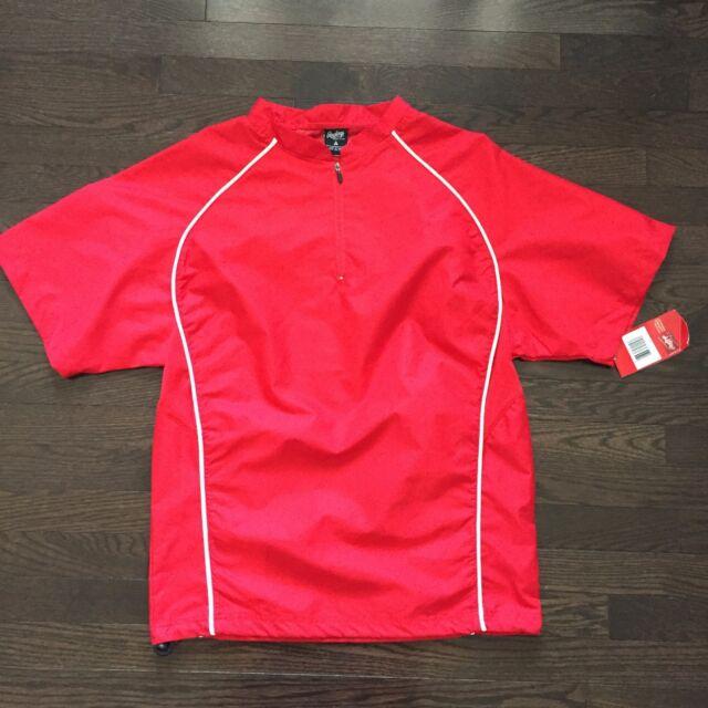 Rawlings Baseball Warmup Windbreaker Jacket Shell Red Mens Size S NWT!