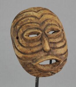 CoopéRative Masque Africain Miniature Luba ? Rdc Congo Art Tribal Decoration Ethnique Des Friandises AiméEs De Tous