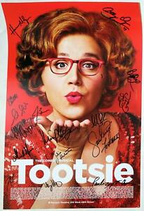 TOOTSIE Partial Cast Santino Fontana, Julie Halston, Lili Cooper + Signed Poster