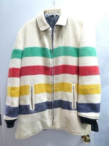 Vintage Hudson Bay Wool Blanket 4 Colored Stripe J