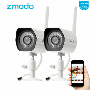 Zmodo-2-Pack-1080P-HD-Smart-WiFI-IR-IP-Network-Security-Camera-Kit-Night-Vision