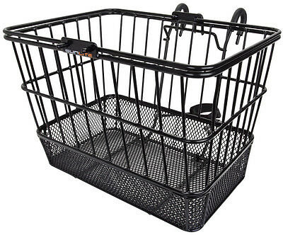 Sunlite Bicycle Front Basket Mesh Lift Off Carrier BLACK Cruiser Commuter Bike