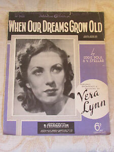 Details about Antique Sheet Music Of When Our Dreams Grow Old, By Eddie  Pola - 1940
