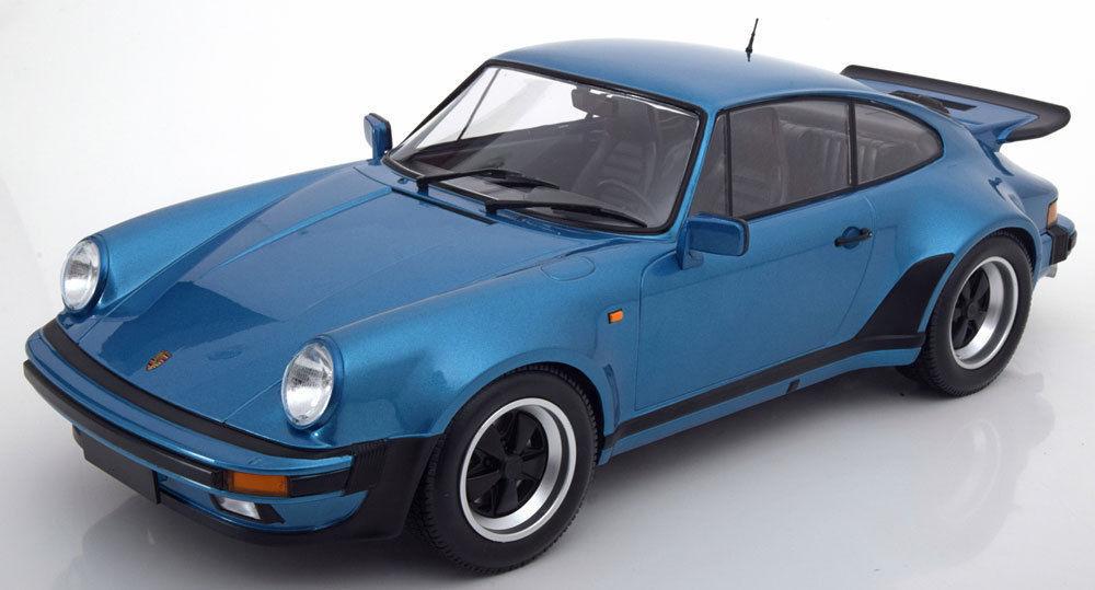Minichamps 1977 Porsche 911 Turbo Azul 1 12 Coche Grande  Totalmente Nuevo Sellado  Hermoso