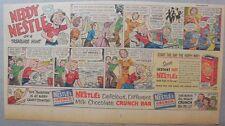 Nestle's Cocoa Ad: Neddy Nestle Treasure Hunt! 1940's-50's Size:7.5  x 15 inches