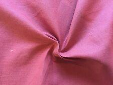 FANTASTIC 20 YARDS SCHUMACHER WAVERLY SOLID PINK LINEN BLEND FABRIC OUTLET