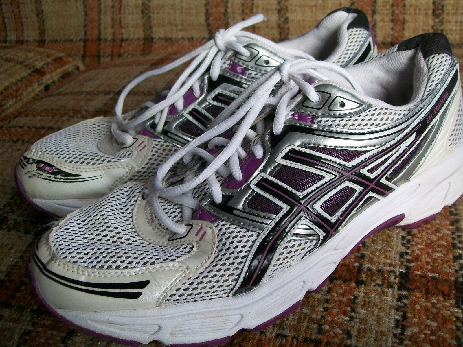 Asics Womens Size 11 (Euro 43.5) CM 27.5 Gel-Contend White Purple T2F9N