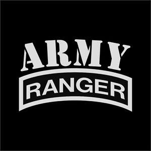 us army ranger military vinyl decal sticker window wall car sign ebay rh ebay com United States Army Rangers army ranger logo pictures