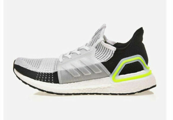 Size 11.5 - adidas UltraBoost 19 White Yellow 2019 for sale online ...