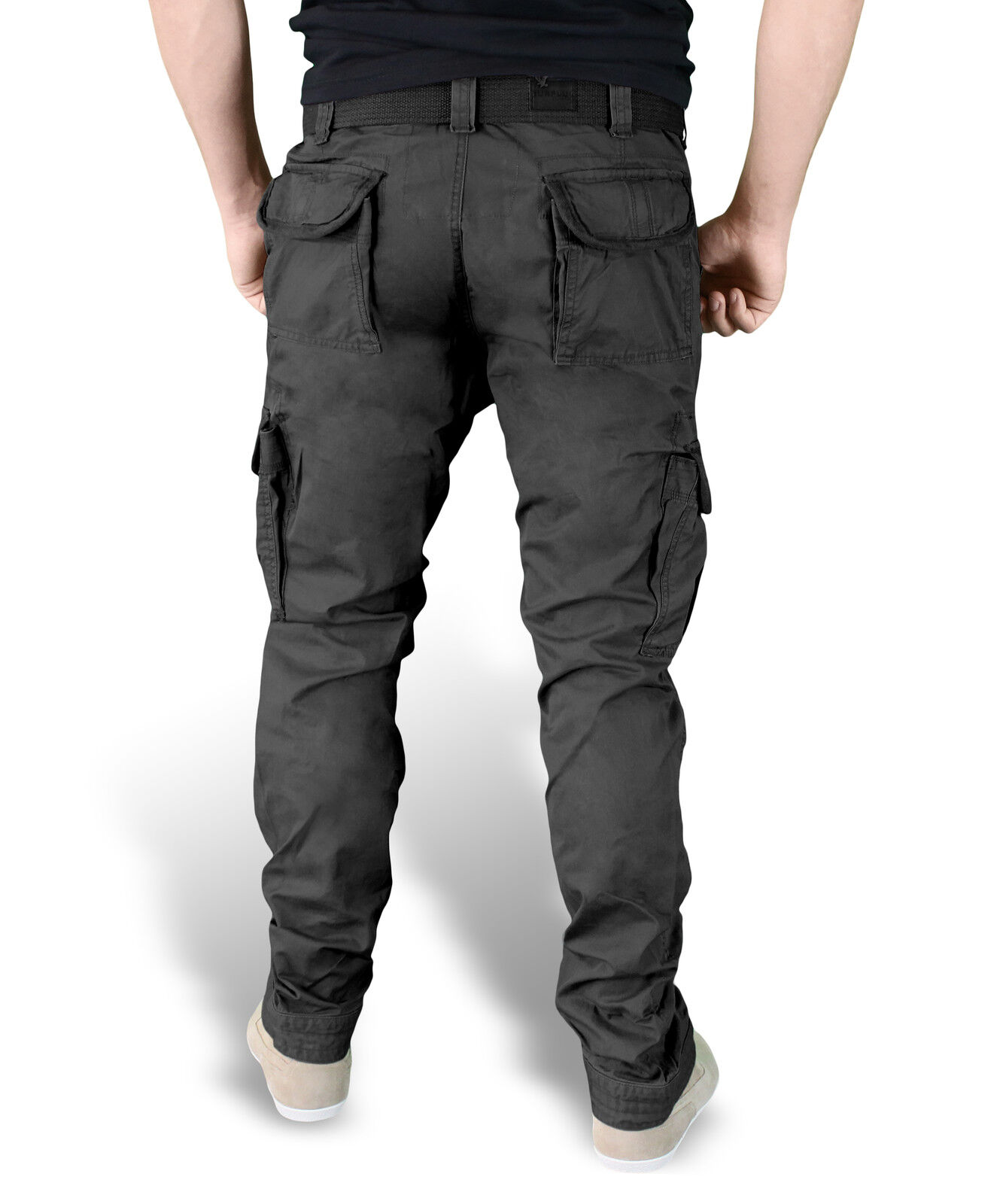Surplus Herren Premium Slimmy Cargo Hose Trousers Trousers Trousers mit Gürtel camo Army BW 3602 dcc66b