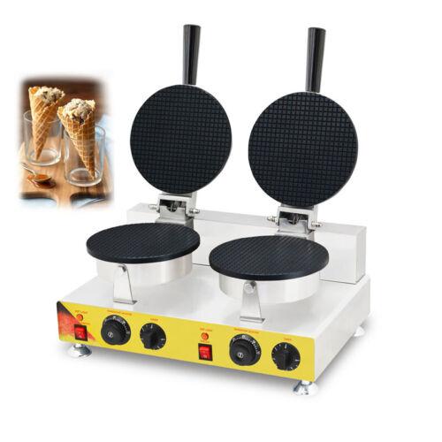 110V 2KW Ice Cream Cone Egg Roll Waffle Baker Maker Machine Iron Electric