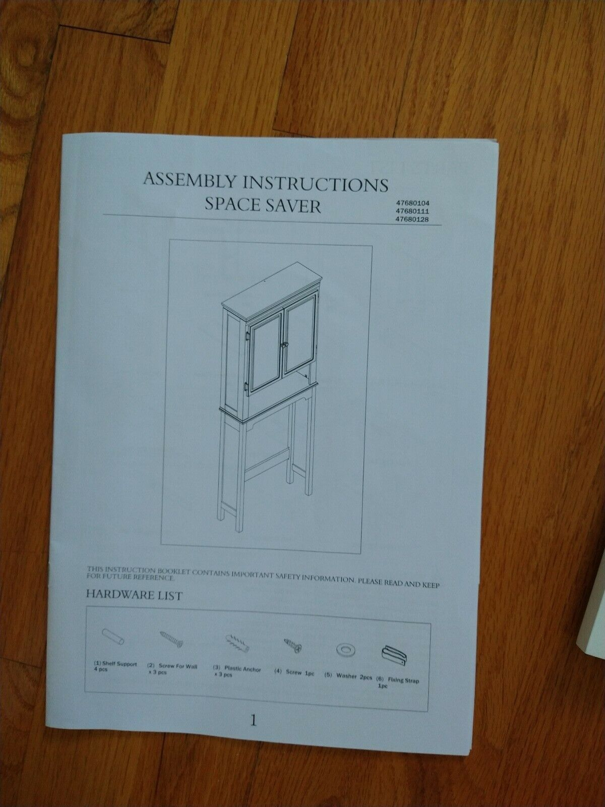 Wakefield No Tools Over The Toilet Space Saver For Sale Online
