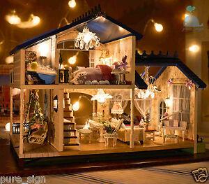 DIY Handcraft Miniature Project Dolls House My Provence Lavender Wooden Villa   6958112301628