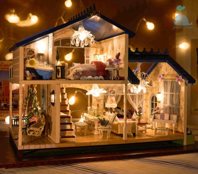 Progetto fai da te Handcraft in miniatura La Mia Provenza alla Lavanda VILLA CASA di bambole in legno