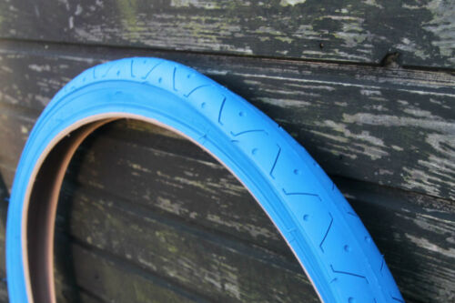 1 PAIR 2 TYRES SLICK MTB TYRES TIRES 26 x 2.10 ALL BLUE LS077