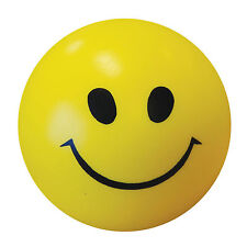 Smiley Face Anti Stress Reliever Ball Stressball ADHD Autism Mood Squeeze Yellow