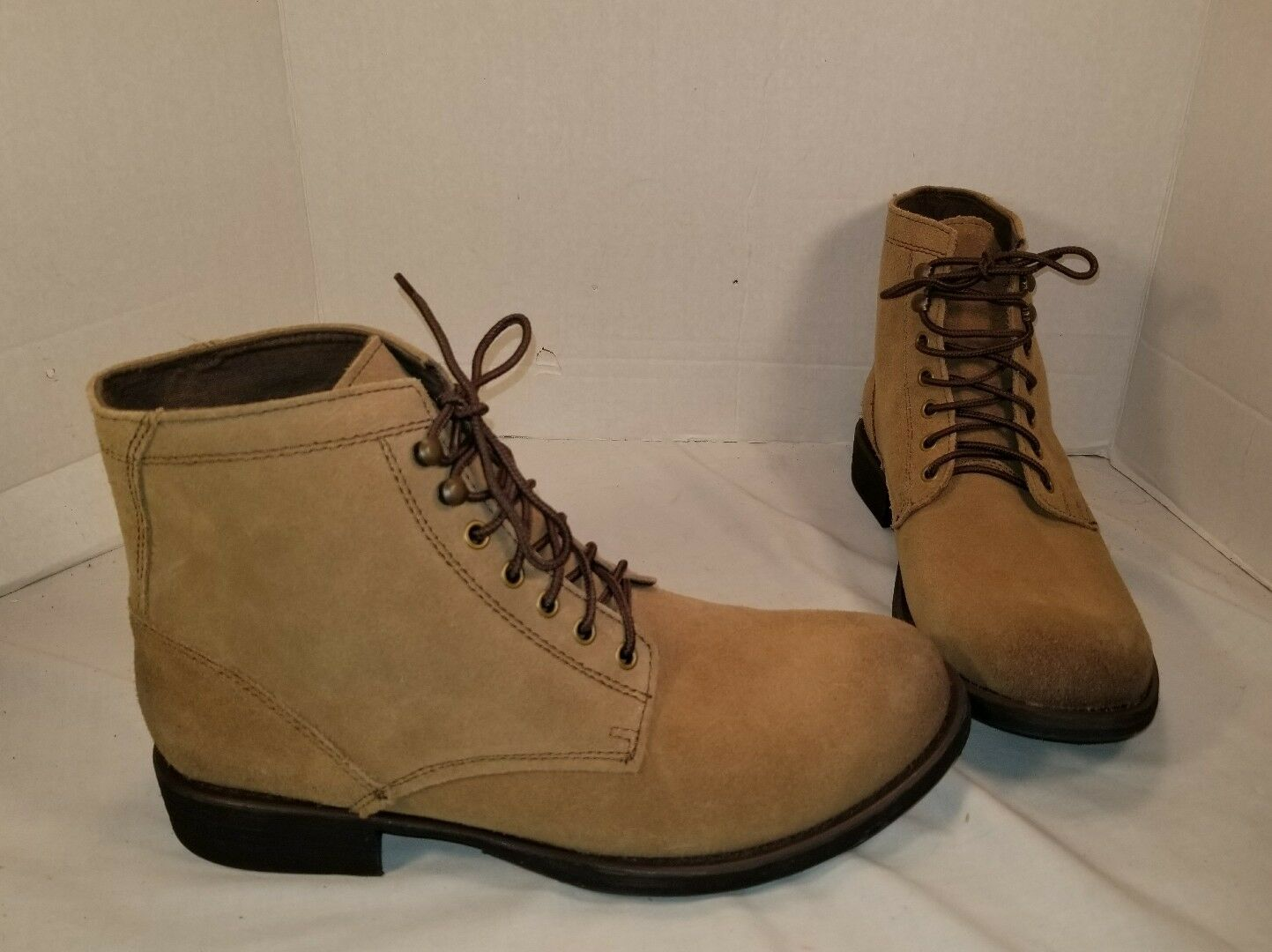 NEW EASTLAND AMERICAN EAGLE ASHLAND TAN SUEDE Stiefel US herren 11