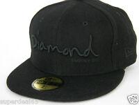 Diamond Supply Co. Cap Og Script Fitted Hat Era 59fifty Black Diamond 1998