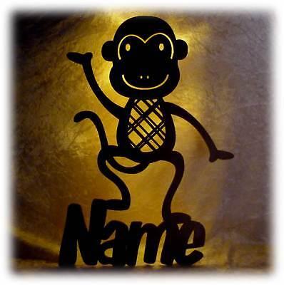 Led Wandtattoo Lampe + Wunsch Name Affen Affe Geschenke für