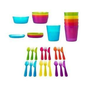 Ikea-Kalas-enfants-pour-enfants-en-Plastique-Plaque-tasses-bols-et-couverts-par-IKEA