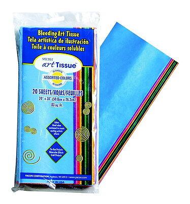 Spectra Deluxe Bleeding Art Tissue Assortment, Assorted Colors, 20 Sheets