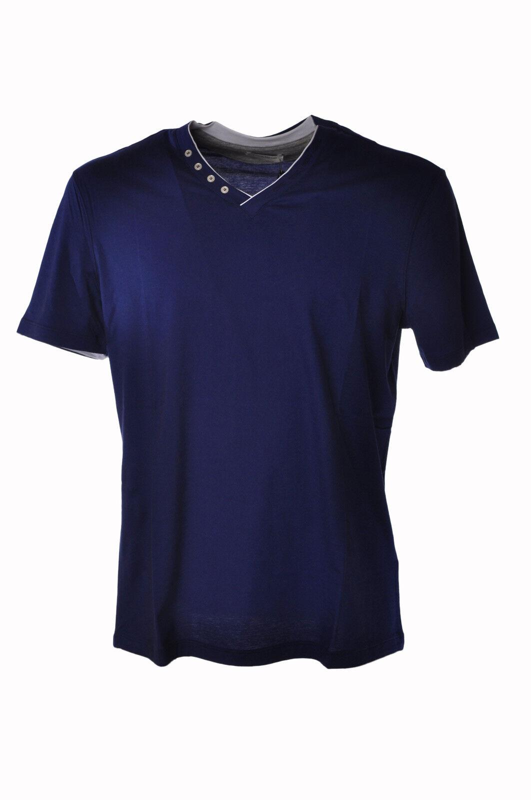Paolo Pecora - Topwear-T-shirts - Mann - Blau - 3597903N183526