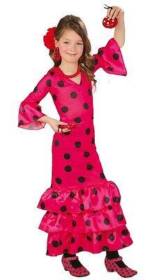 2019 Ultimo Disegno Rosa Da Bambina Flamenco Spagnolo Ballerina A Pois Costume Vestito 3-12 Anni Essere Accorti In Materia Di Denaro