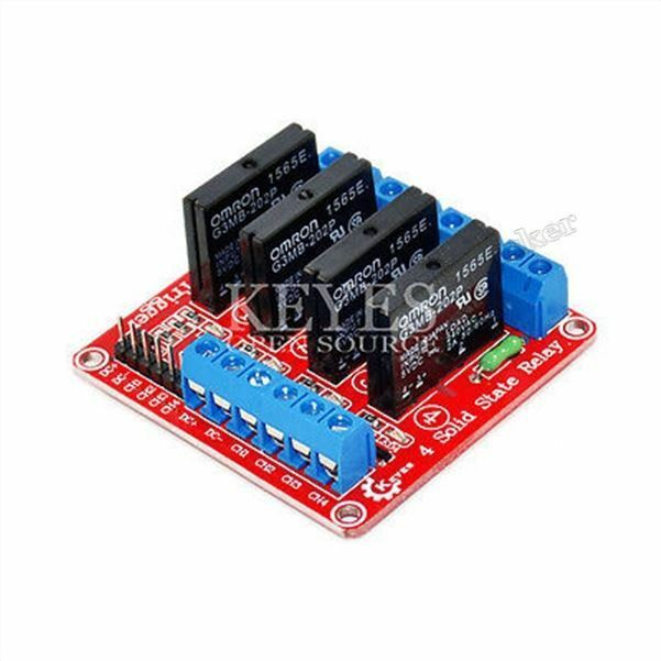 2Pcs Relay Module 5V 4 Channel Omron Ssr G3MB-202P Solid State For Arduino Ne br