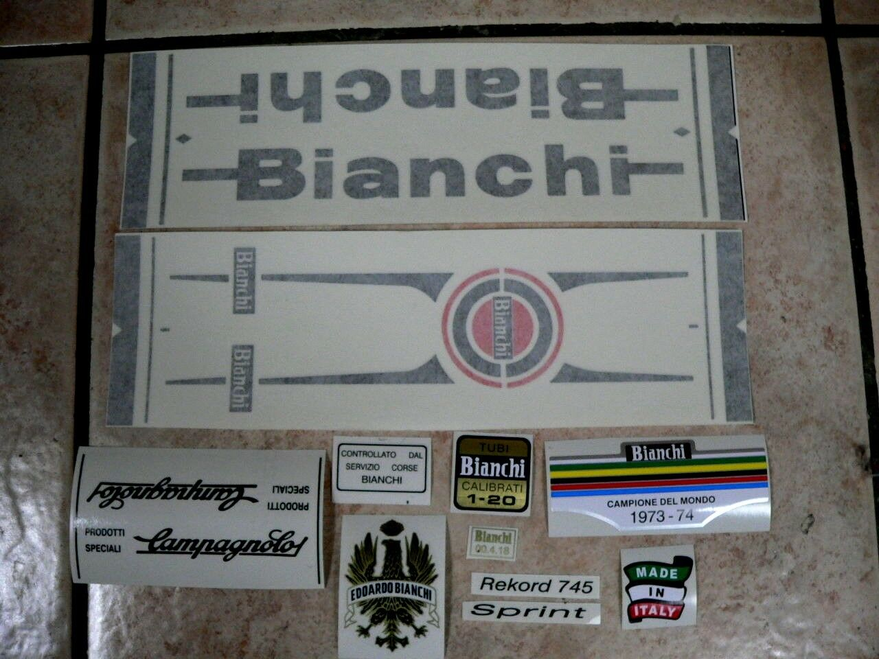 Bianchi 03 bici Bike 03 Bianchi Vinyl Decals Stickers Frame Replacement Set vintage adesivi 71bdaf