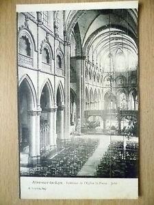 Postcard-INTERIEUR-DE-I-039-EGLISE-ST-PIERRE-JUBE-AIRE-SUR-LA-LYS-FRANCE