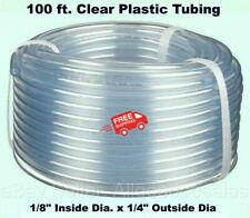 Clear Plastic Tubing 100 Roll 18 Inside Dia X 14 Outside Dia Flexible