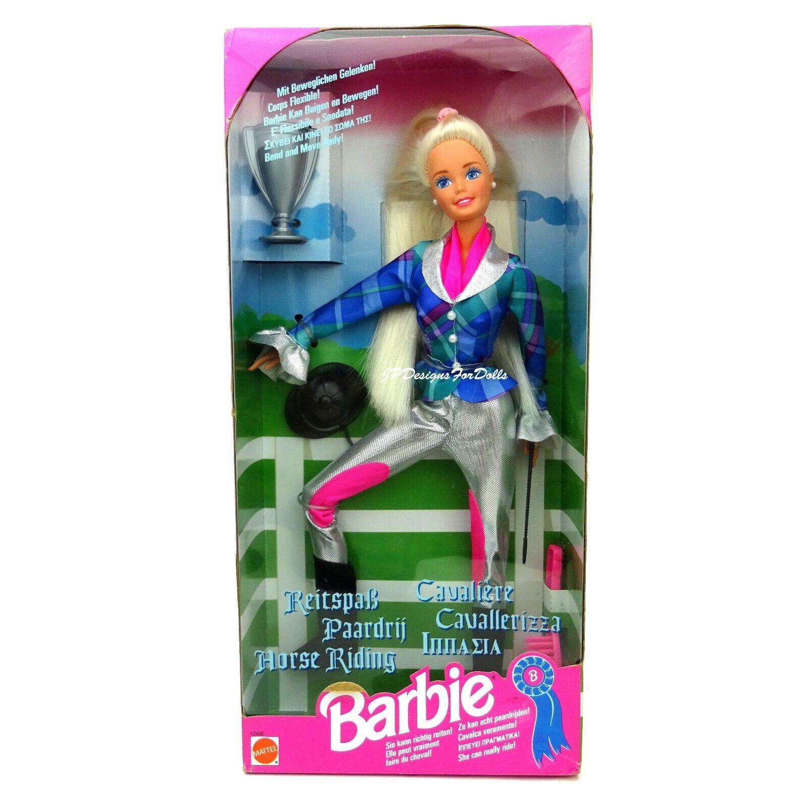 1994 Cavaliere Horse Riding Barbie Doll European Issue