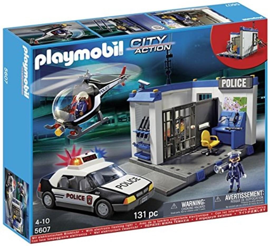 Playmobil 5607 Polizei Set Zentrale Hubschrauber Streifenwagen NEU & OVP