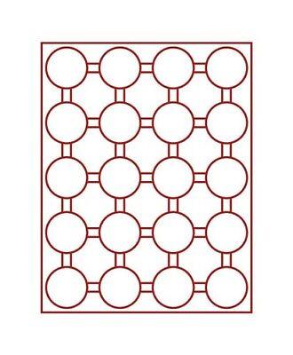 Beducht Lindner 2943 Coin Box-smoked Glass / Dark Red Insert Nieuw (In) Ontwerp;
