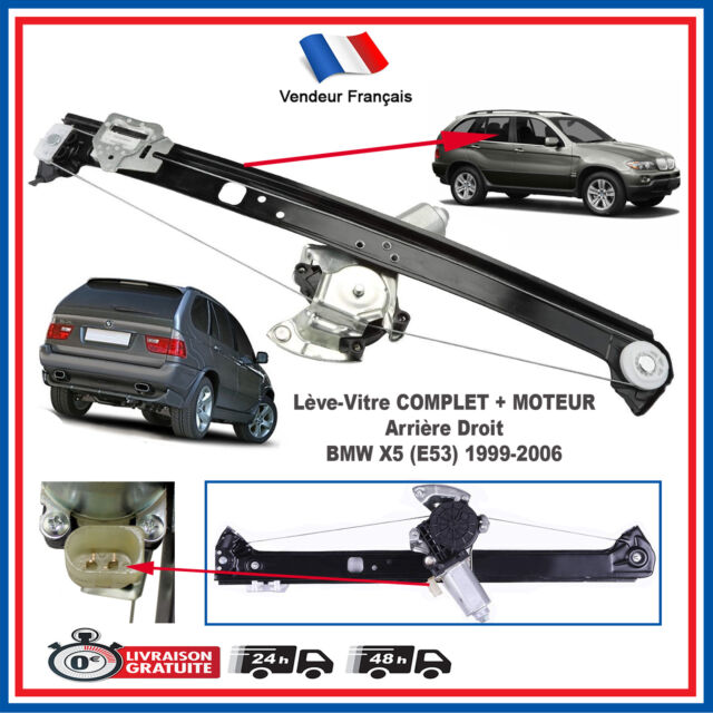 Motor Eléctrico Elevalunas + Mecanismo Trasero Derecho para BMW X5 E53