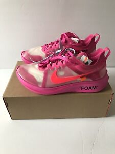 0a420bccaa92 The 10  Nike Zoom Fly x Off-White Tulip Pink Racer Sneakers Size 11 ...