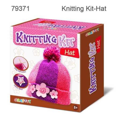 Children/'s Hat Knitting KitCraftoyBeaniePink PurpleMake your own DIY