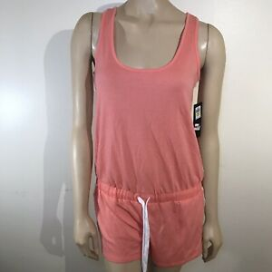0a523bf740557 Image is loading Jessica-Simpson-Womens-Peach-Sleeveless-Romper-The-Warm-