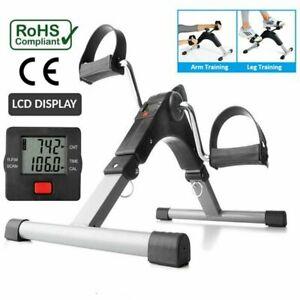 Digital Folding Exercise Bike Arm/Leg Pedal Mobility Aid Mini Cardio Machine UK