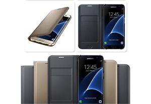 Luxe-Cuir-Veritable-Flip-Wallet-Case-Cover-Pour-Samsung-Galaxy-S6-S7-S8-Plus