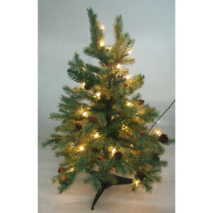 image is loading pre lit artificial christmas tree with red berries - Christmas Tree With Pine Cones