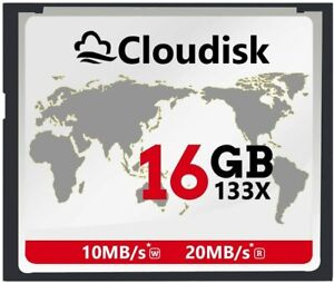 Cloudisk Compact Flash CF Memory Card 16GB, per Fotocamera DSLR, spedizione veloce