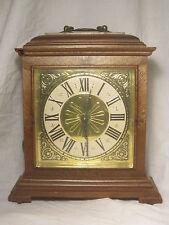 * damaged vintage Spartus clock U.S.A. Roman Numeral electric mantle time piece