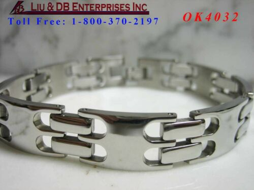"""3//8/"""" W  OK4032 1 New High Quality Men/'s Stainless Steel Bracelet About 8 1//4/""""L"""