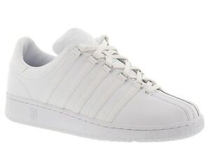 Men K-Swiss Classic VN Leather 03343-101 White White 100% Authentic ... 3d111165b09