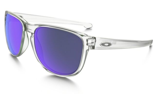 d53e9e369f8 Oakley R Round Sliver Sunglasses Clear Violet Iridium Mirrored Lens ...