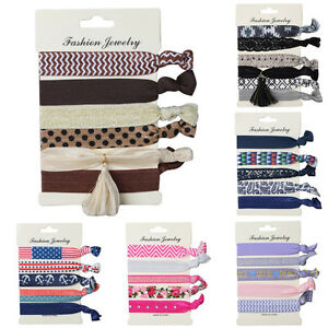 Fashion-Women-Girl-Knotted-Hair-Tie-Ponytail-Holder-Bracelets-Hair-Rope-Hairband