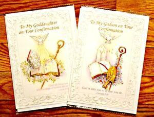 Godson-OR-Goddaughter-Confirmation-Greeting-Card-NEW-Unused-Catholic-Christian